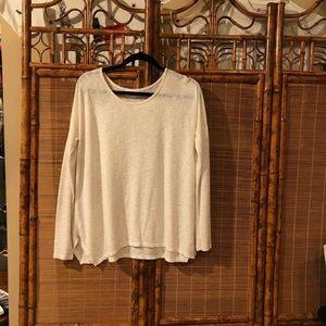 Velvet White Knit Top